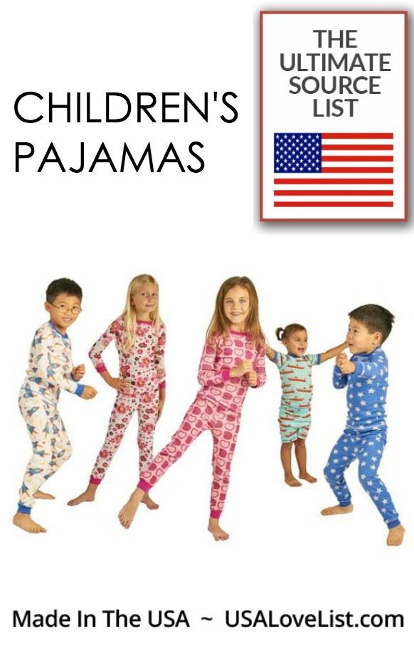 Children's Pajamas, Made in the USA
