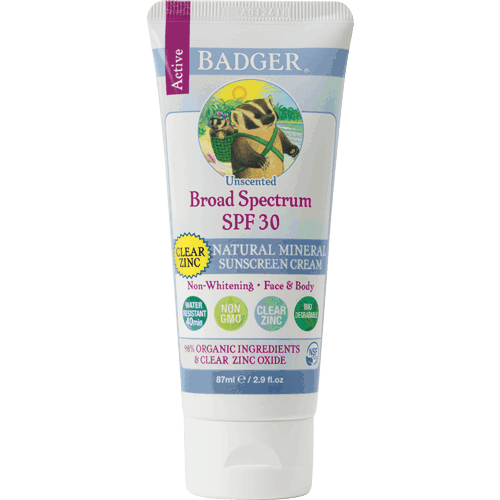 Non-Toxic sunscreens: Clear Zinc Oxide Badger Balm Sunscreen #usalovelisted #nontoxic