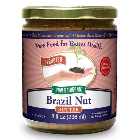 Raw and Organic Brazil Nut Butter from Blue Mountain Organics - Whole30 and Paleo Friendly