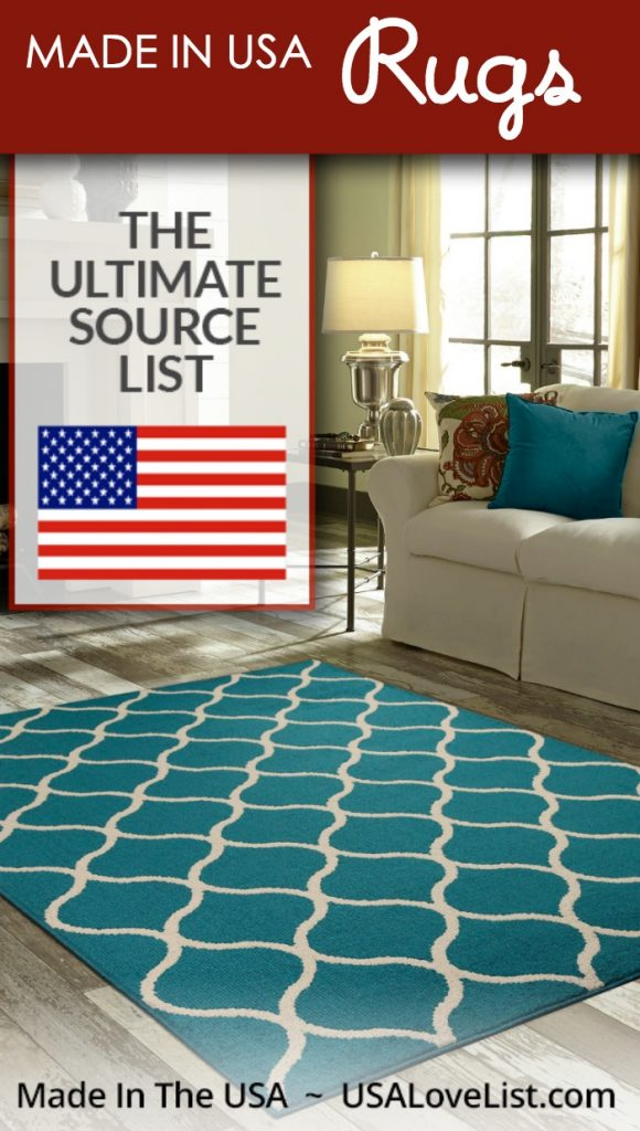 Area rugs, carpets, mats All American made
