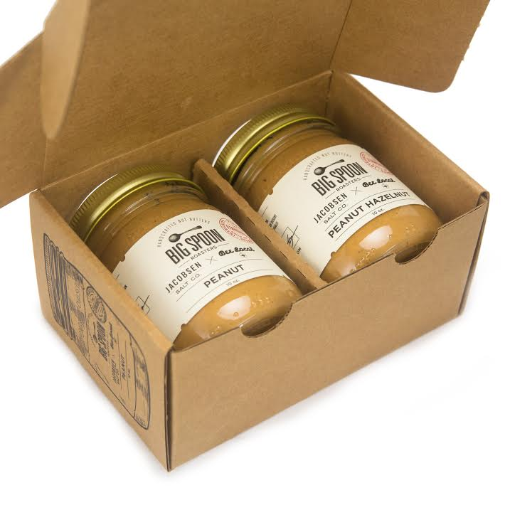 Gifts for the Foodie: Big Spoon - Limited Edition Peanut Butter and Peanut Hazelnut Butter Made with Jacobsen Salt and Bee Honey