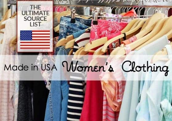 American made minimalist wardrobe: Made in the USA Women's Clothing