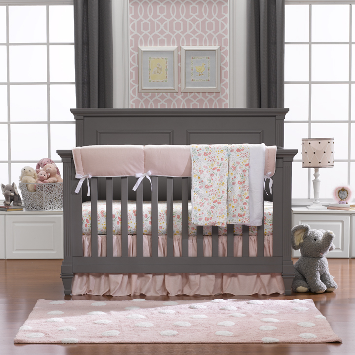 Inspirational American made baby products Liz and Roo Bumperless Crib bedding Made in USA