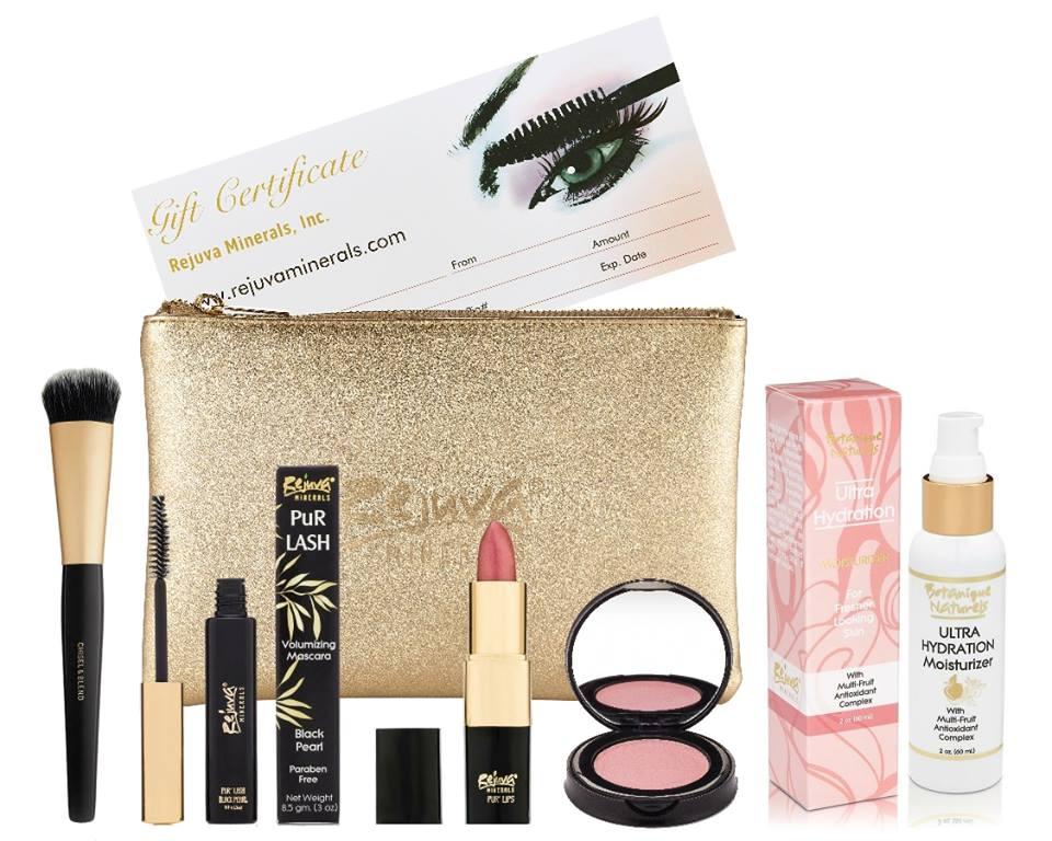 Rejuva Minerals Vegan Non-Toxic Makeup Bag Essentials - American Made Beauty Gifts