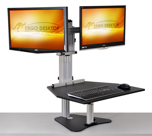 Ergo Desktop unit for standing at desk. #office #officefurniture #madeinUSA #AmericanMade