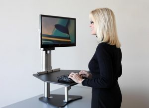 Ergo Desktop standing desk unit #madeinUSA #AmericanMade #officespace #office #officefurniture