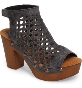 Charcoal open bootie #AmericanMade @Nordstrom