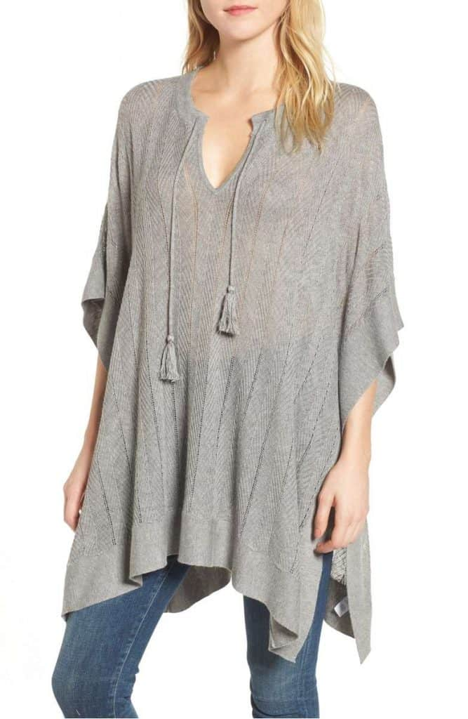 Splendid Poncho Sweater | Made in USA at USA Love List