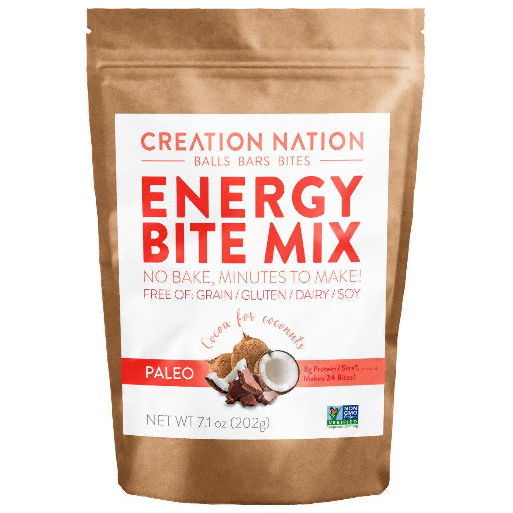 Creation Nation Energy Bite Mix - Paleo Gluten, Grain, Dairy, Soy-Free