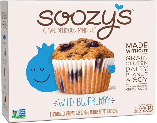 Soozy's Gluten Free and Paleo Blueberry Muffins - You'd Never Know Because They