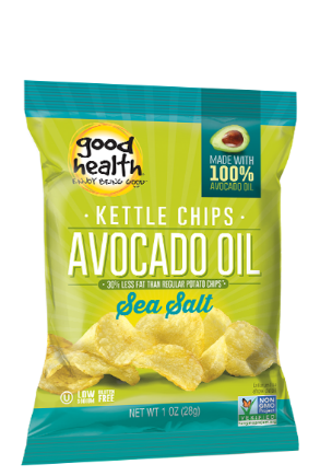 Good Health Avocado Oil Kettle Chips - Non GMO and Gluten Free