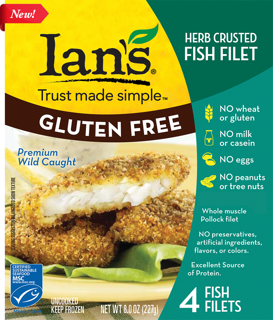 Ian's Herb Crusted Gluten Free Frozen Fish Filet