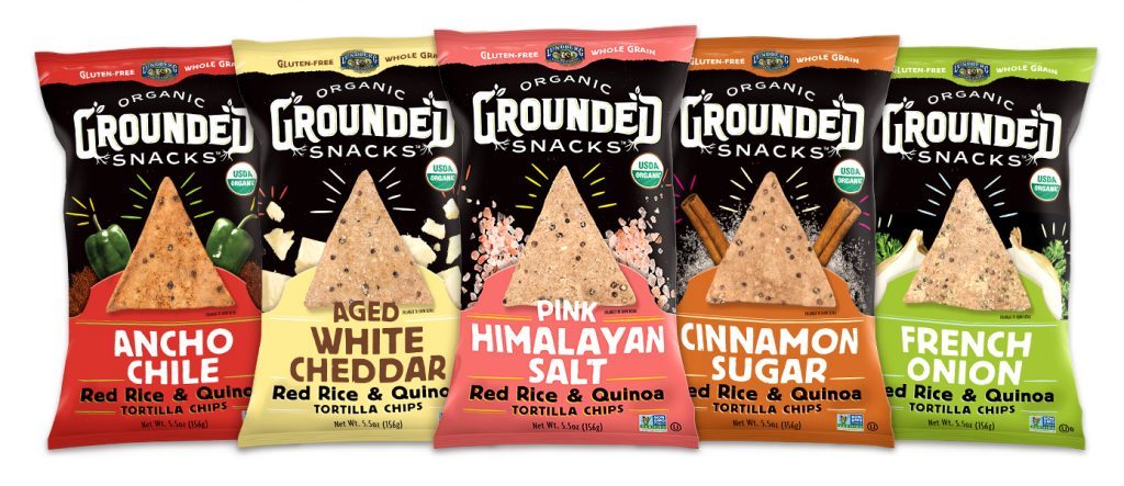 Organic Gluten Free Rice and Quinoa Tortilla Chips - Lunderberg Grounded Snacks