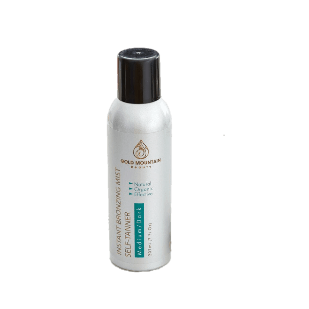 Gold Mountain Beauty Instant Spray Self Tanner is made in the USA, vegan, non-toxic and cruelty-free.