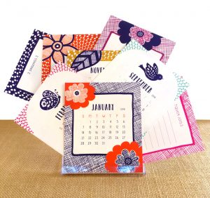 American Made Gifts Under $30 - Nightowl Paper Goods Eco-Friendly Calendars