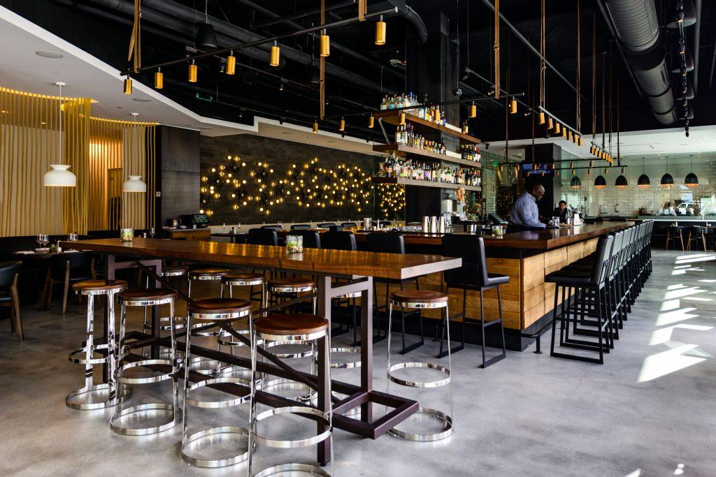 Nine Luxury Travel Destinations in the USA - Boston Massachusetts Envoy Hotel Bar