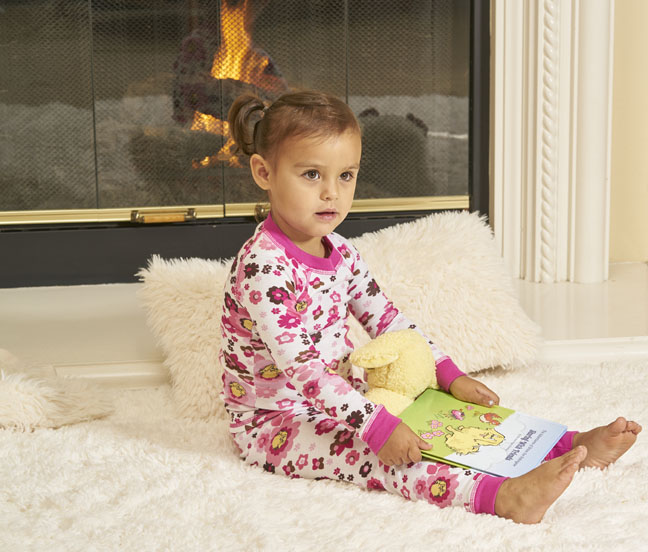 Organic children's pajamas and book gift set