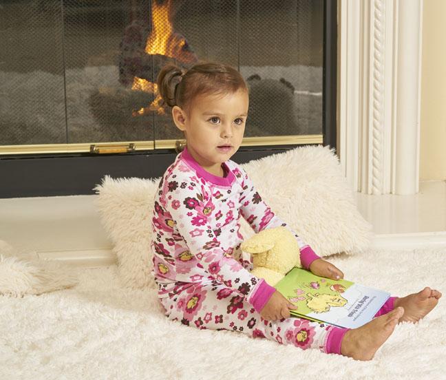 Organic children's pajamas and book gift set