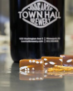 Sweet Jules Beer & Pretzel Caramels - Made in Minnesota with Gold medal-winning Scotch Ale from Town Hall Brewery - American Made Gifts Under $30