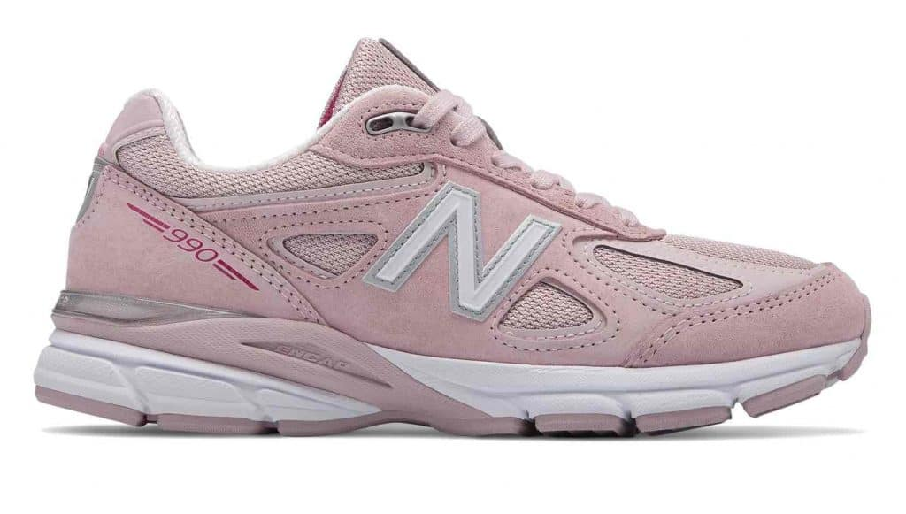 New Balance's Pink Ribbon shoes are made in the USA and benefit Breast Cancer Awareness via the Susan G Komen Foundation