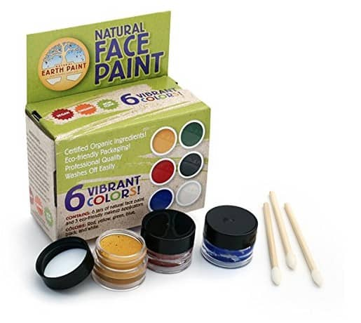 Face Painting Ideas with made in USA Face paint: Natural Earth Paint Natural Face Paint Kit #usalovelisted #facepainting #halloween