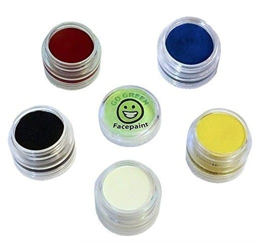 Face Painting Ideas with Made in USA face paint: Go Green Face Paints #usalovelisted #nontoxic #Halloween #facepainting