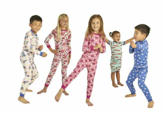 Organic children's pajamas gift set