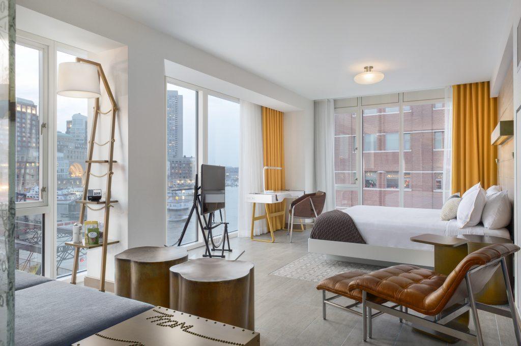 Nine Luxury Travel Destinations in the USA - Boston Massachusetts Envoy Hotel King Suite