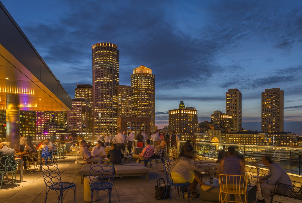 Nine Luxury Travel Destinations in the USA - Boston Massachusetts Envoy Hotel Rooftop