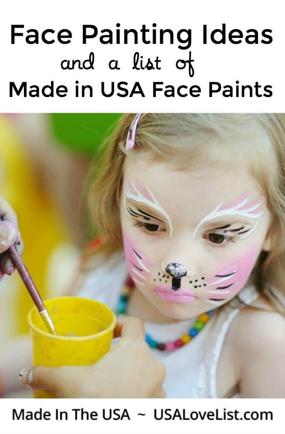 Face Painting Ideas with Made in USA Face Paints #usalovelisted #halloween #facepainting #partyideas