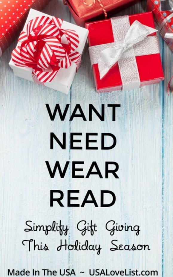Want Need Wear Read: Simplify gift giving this holiday season with these tips