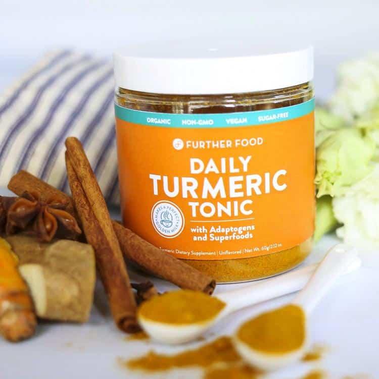 Further Food Daily Turmeric Tonic - Paleo, Keto, Vegan, Organic, Non-GMO, Sugar-Free, Dairy-Free, Soy-Free