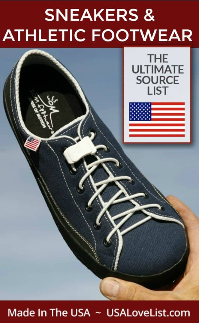 Made in USA Sneakers & Athletic Footwear #madeinUSA #usalovelisted #athleticwear #snakers