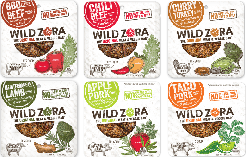 Gluten Free Foods: Wild Zora - Meat and Veggie Bars - Paleo Jerky #paleo #whole30 #usalovelisted