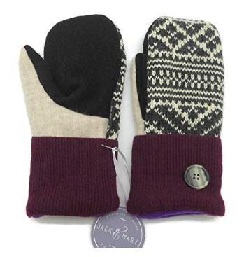 American made cold weather gear: Jack & Mary Designs mittens for men, women, kids #usalovelisted #winter #fashion #gifts