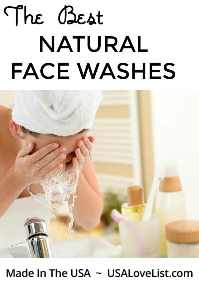 BEST NATURAL FACES WASHES via USA Love List #madeinUSA #usalovelisted #facial #skincare