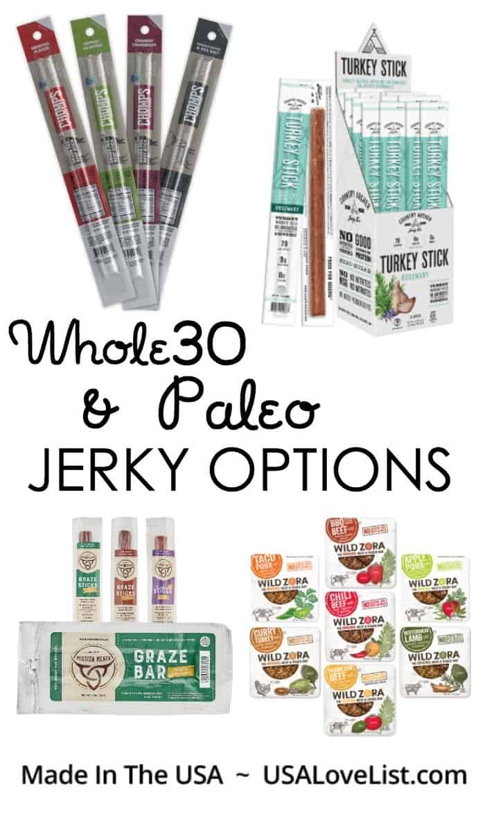 Whole30, Paleo Jerky Options #paleo #glutenfree #whole30 #usalovelisted