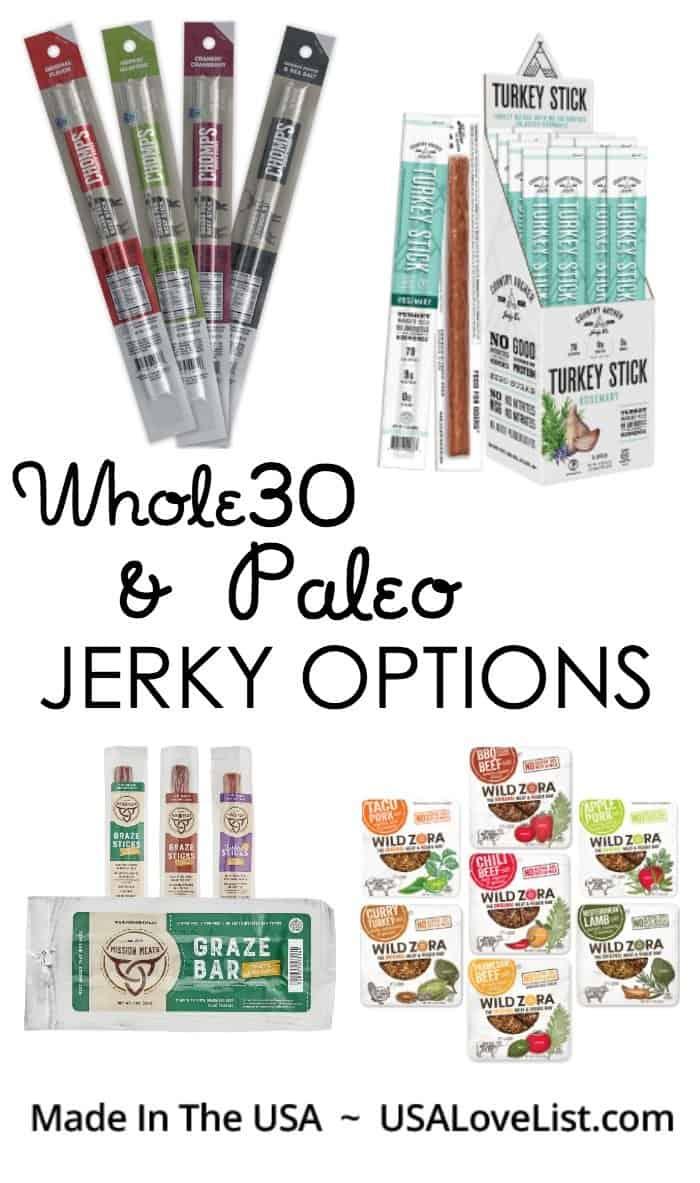 Whole30 Paleo Jerky options