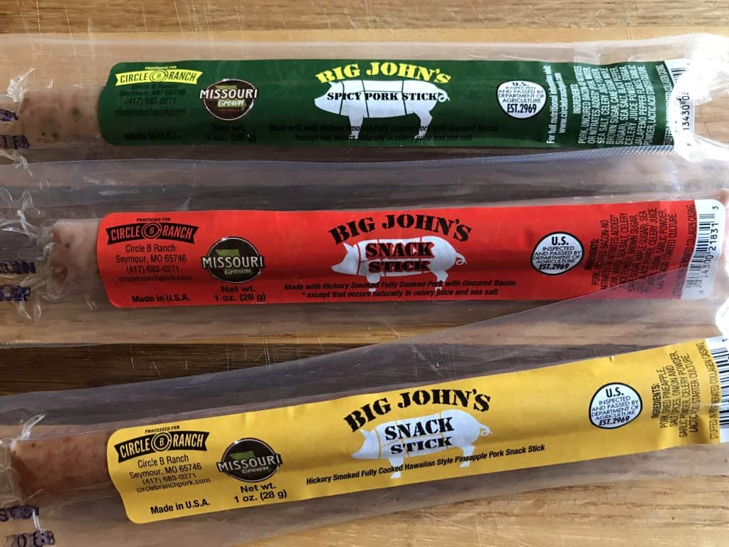 Whole30 Meat Snack Sticks from Circle B Ranch - Made in USA - Made in Missouri