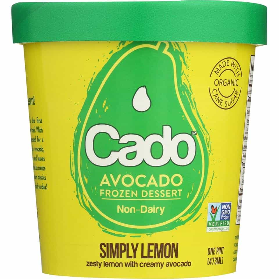 Best Non-Dairy Milk Products - Cado Avocado Ice Cream - It's AMAZING and tastes like sorbet #NonDairy #vegan #GMOfree
