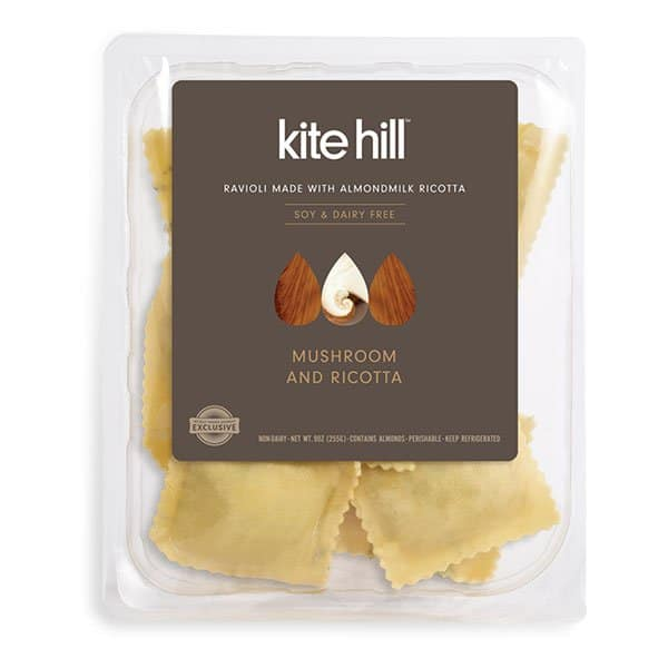 Non Dairy Milk Products: Kite Hill Dairy Free Stuffed Pasta - Mushroom Ricotta Ravioli