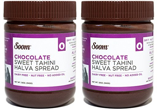 Vegan Nutella Alternatives: Soom Foods Chocoalte Tahini #NutFree #Palm OilFree #vegan