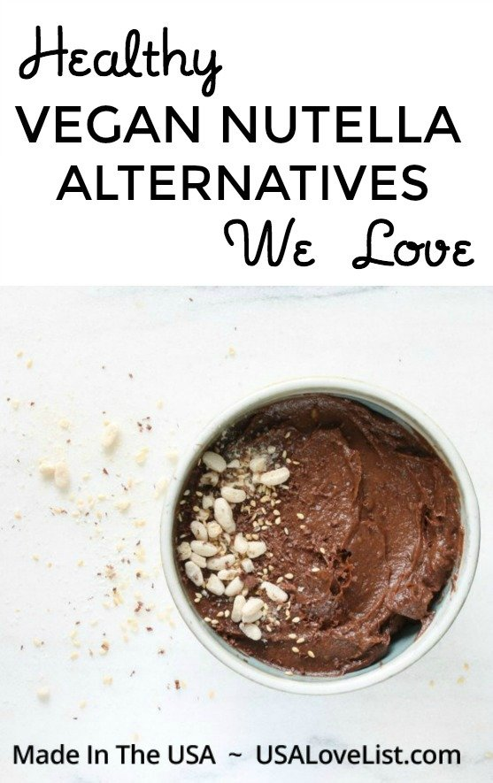 Vegan Nutella Alternatives #USAlovelisted #vegan #paleo #glutenfree