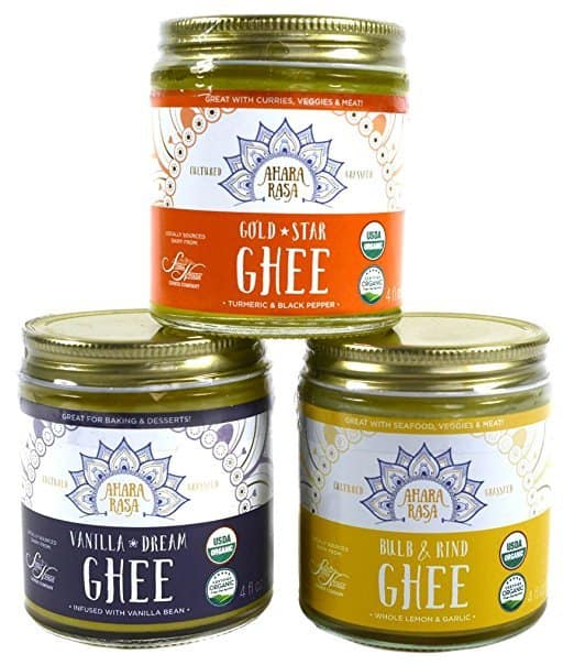 What is Ghee? And How to Find The Best Ghee Brands - Organic Grass Fed Ahara Rasa Ghee Sampler Pack