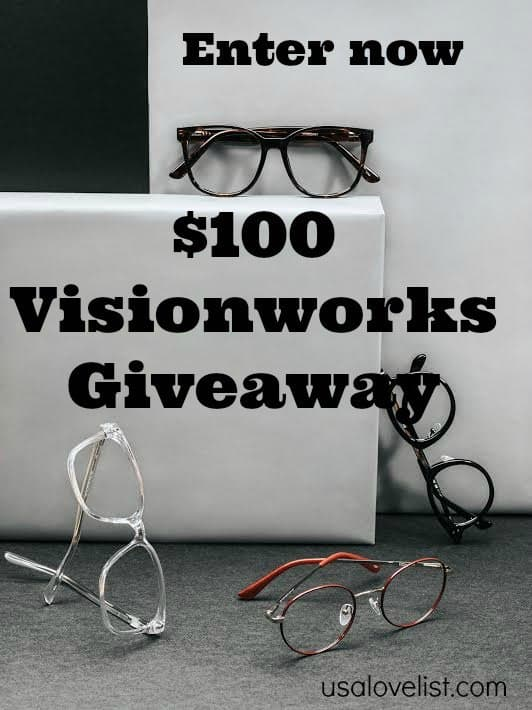 Enter now to win $100 Visionworks Giveaway