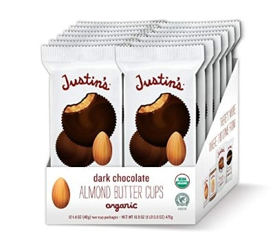 American made Easter candy: Justin's nut butter and peanut butter cups #usalovelisted #organic