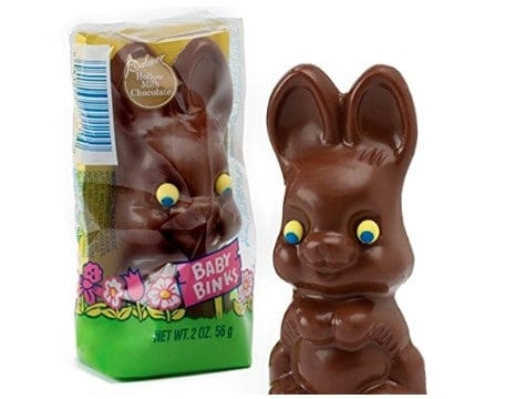 American made Easter candy: R.M. Palmer novelty Easter bunny's #Easter #usalovelisted #candy