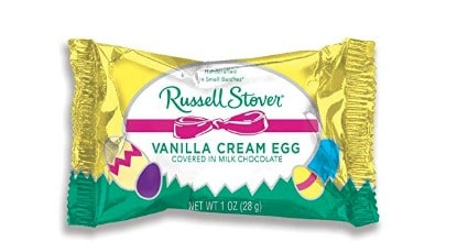 American made Easter candy: Russell Stover Vanilla Cream Egg candy #usalovelisted #Easter #candy