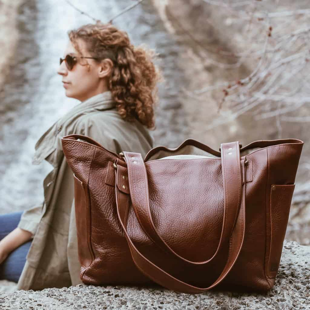 American Made Leather Handbags from Kámen Road #usalovelisted
