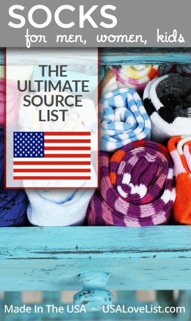 Made in USA Socks for men, women, kids #usalovelisted